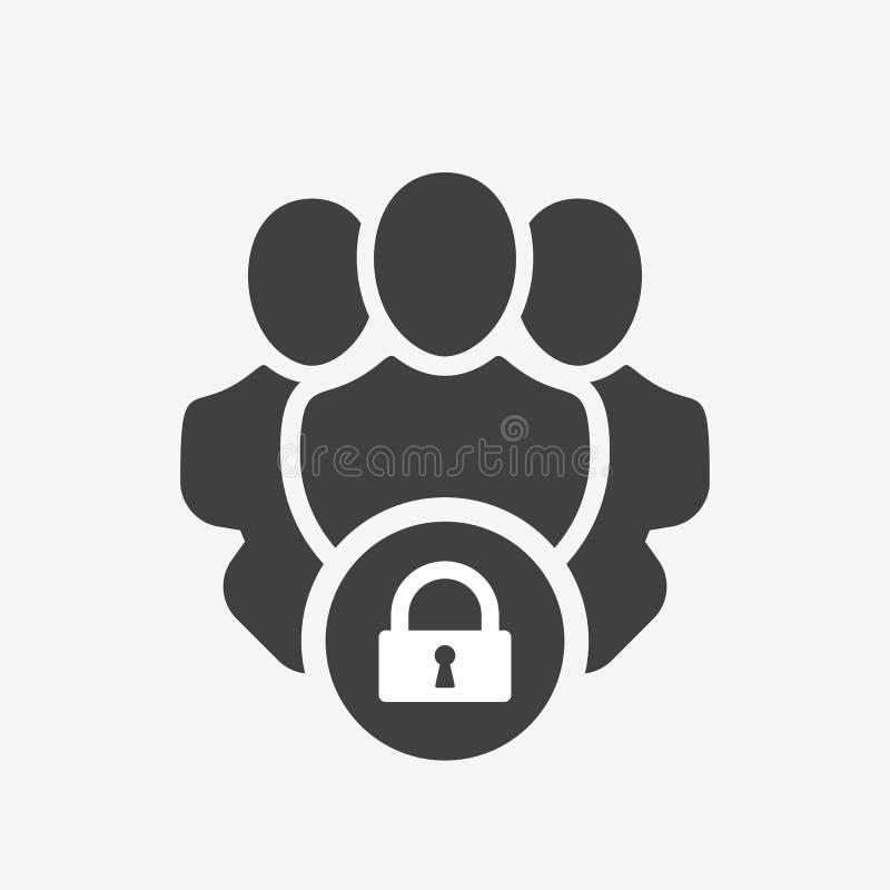 Icono de los servicios profesionales con la muestra del candado Icono y seguridad, protección, símbolo de los servicios profesion libre illustration
