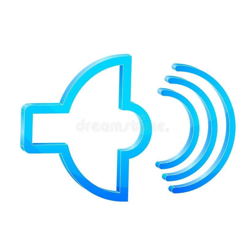 Icono de los sonidos ilustración del vector