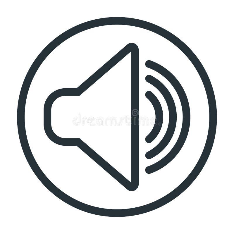 Icono de los sonidos aislado stock de ilustración
