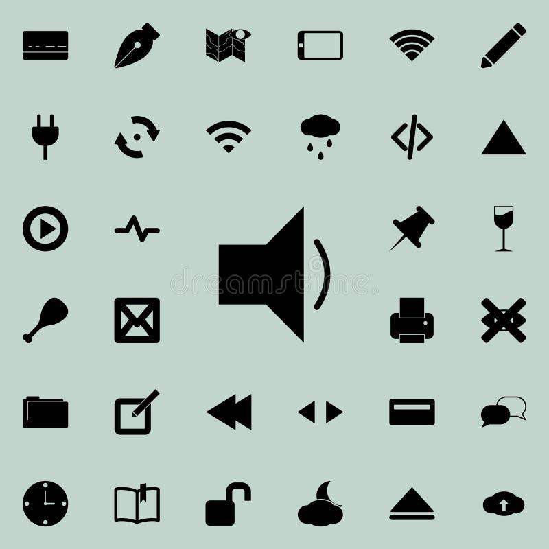 Icono de los sonidos Sistema detallado de iconos minimalistic Diseño gráfico superior Uno de los iconos de la colección para los  stock de ilustración