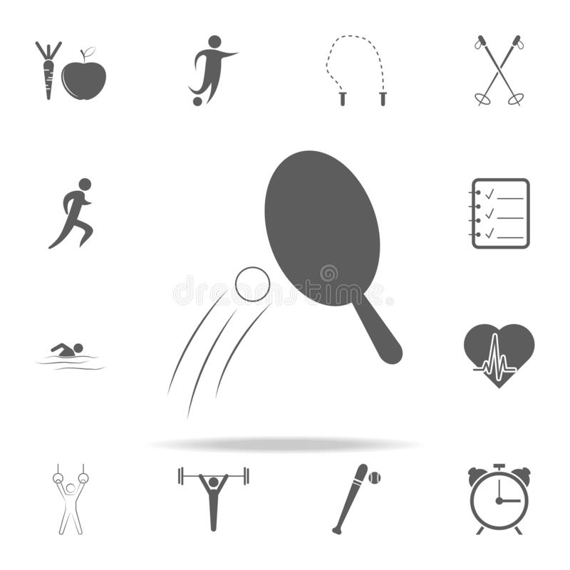 Icono de los tenis de mesa Diviértase el sistema universal de los iconos para el web y el móvil libre illustration