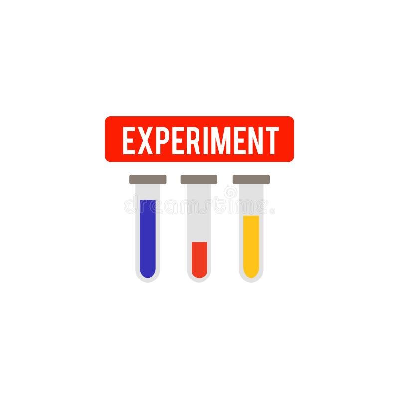Icono de los tubos de ensayo Icono simple Icono plano moderno Página del sitio web y elemento móvil del diseño del app Ilustració libre illustration