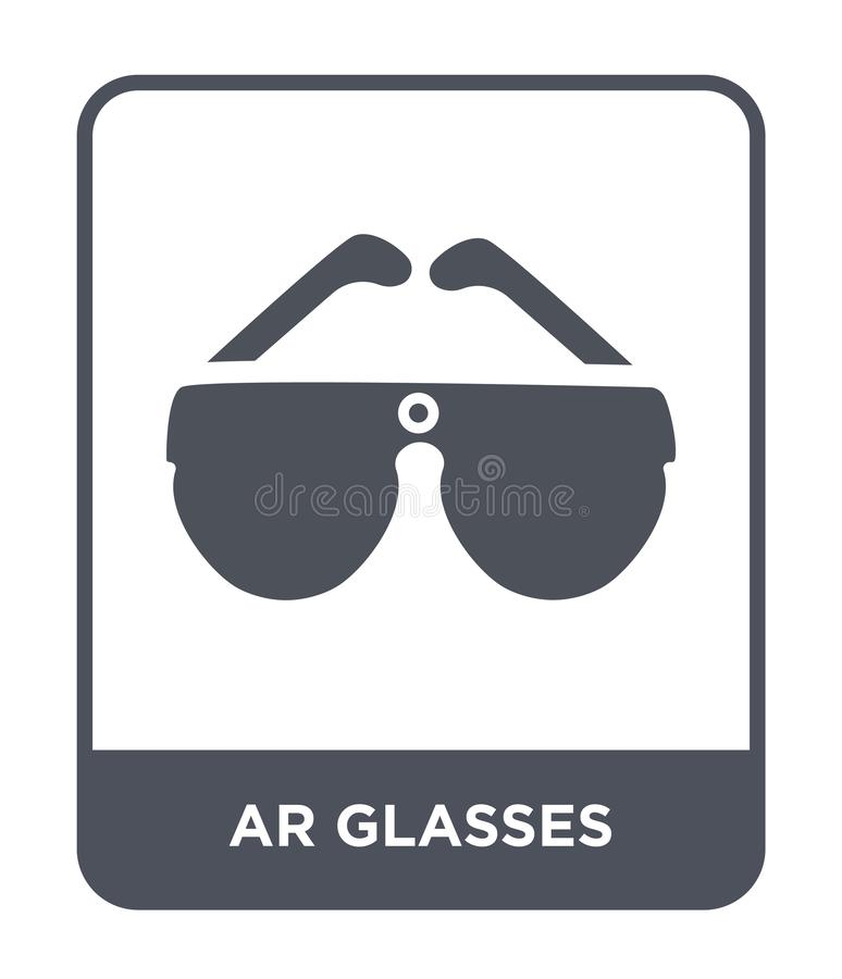 icono de los vidrios de AR en estilo de moda del diseño icono de los vidrios de AR aislado en el fondo blanco icono del vector de stock de ilustración