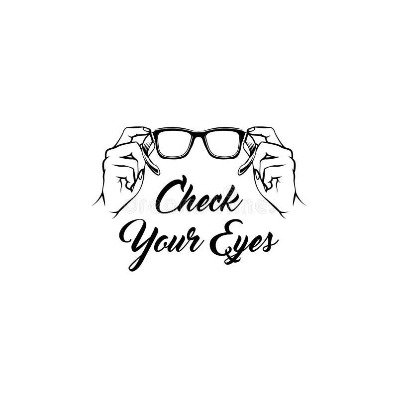 Icono de los vidrios Asistencia médica Óptico creativo Diseño de la oftalmología Vector libre illustration