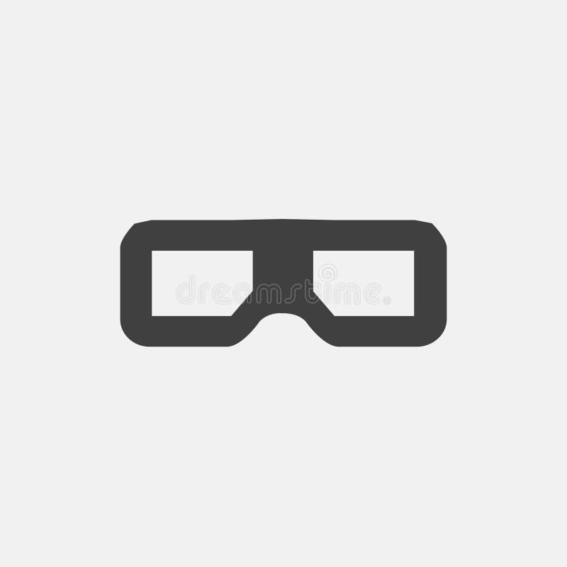 icono de los vidrios 3D stock de ilustración