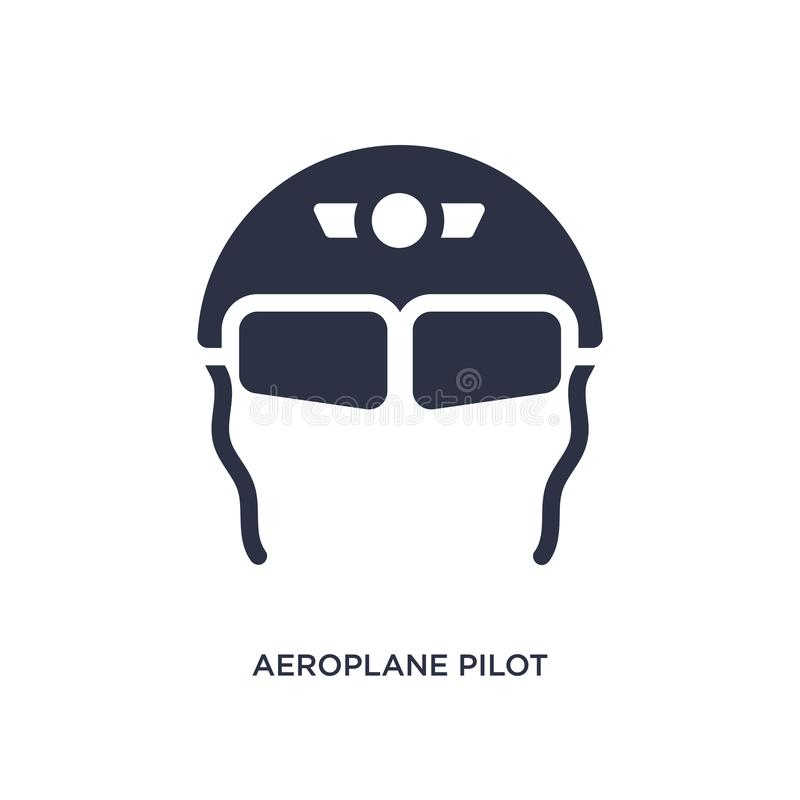 icono de los vidrios del piloto del avión en el fondo blanco Ejemplo simple del elemento del concepto del terminal de aeropuerto ilustración del vector