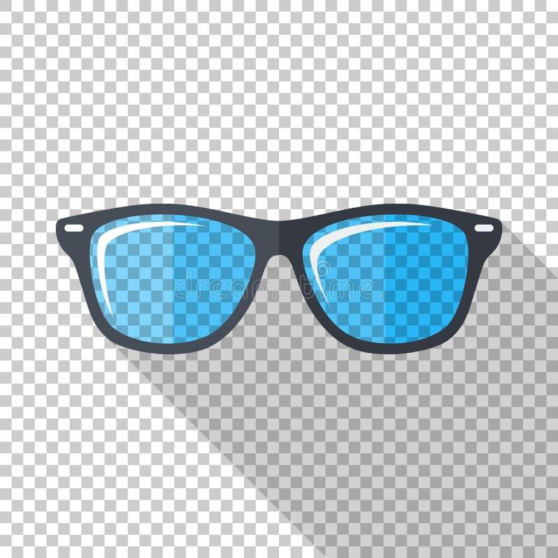Icono de los vidrios en estilo plano en fondo transparente ilustración del vector