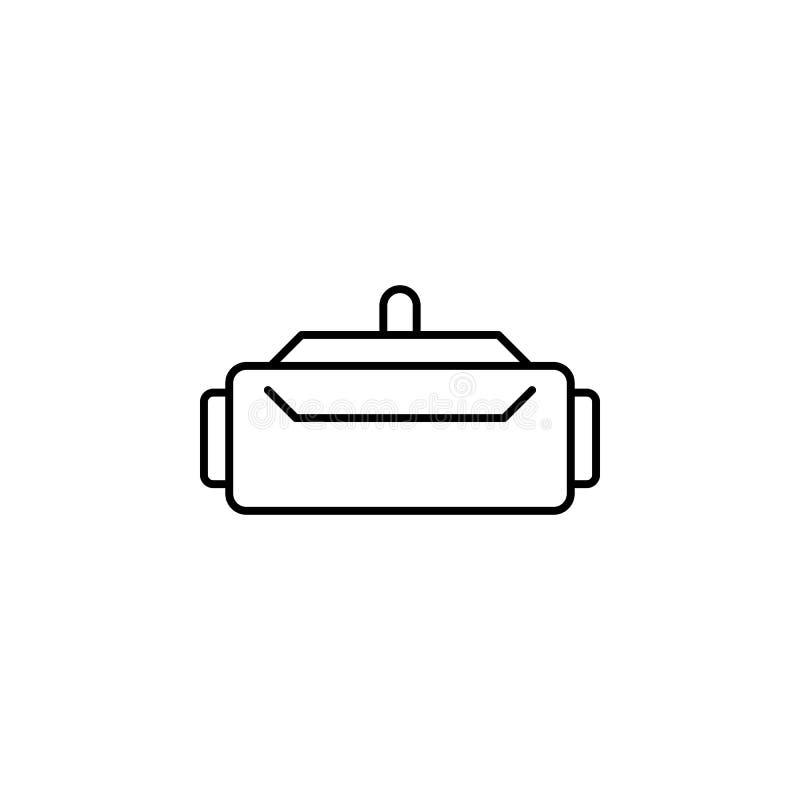 Icono de los vidrios de VR Elemento del icono futuro de la tecnología para los apps móviles del concepto y del web La línea fina  stock de ilustración