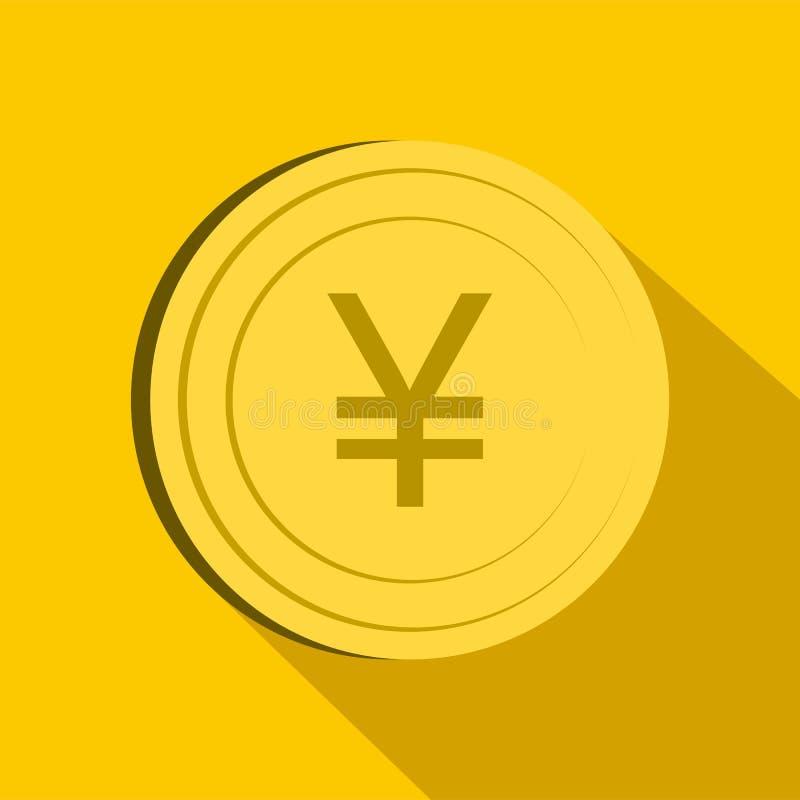 Icono de los yenes, estilo plano libre illustration