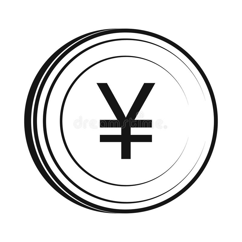 Icono de los yenes, estilo simple ilustración del vector