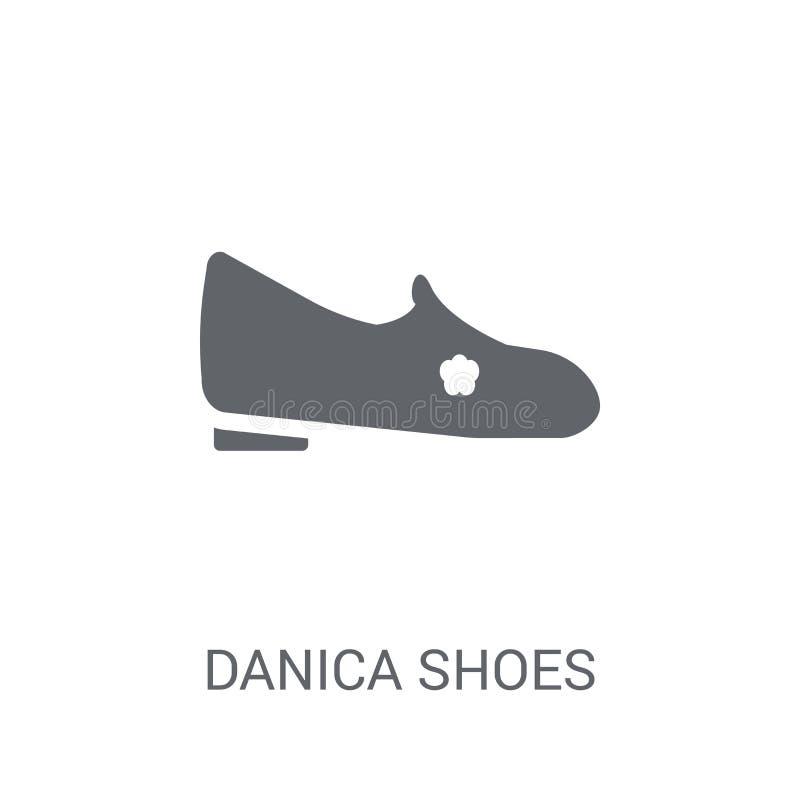 icono de los zapatos del danica  stock de ilustración