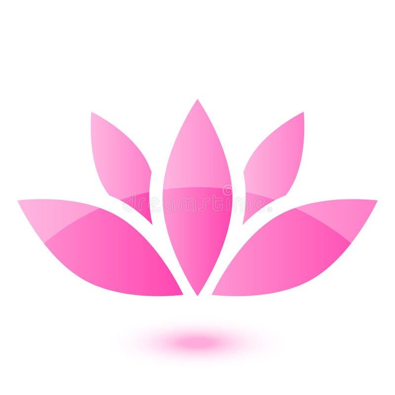Icono de Lotus stock de ilustración