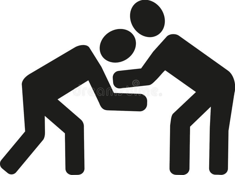 icono de lucha stock de ilustración