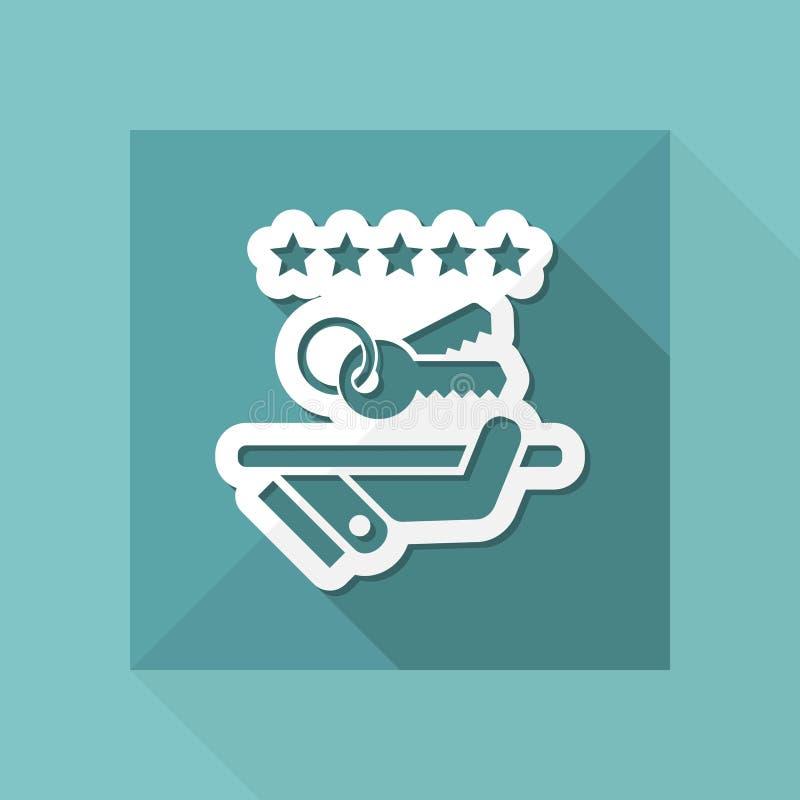 Icono de lujo del servicio Llaves ilustración del vector