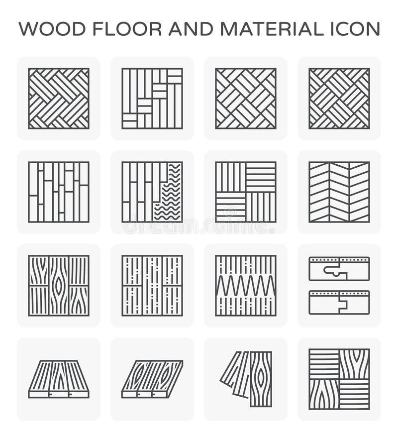 Icono de madera del piso stock de ilustración