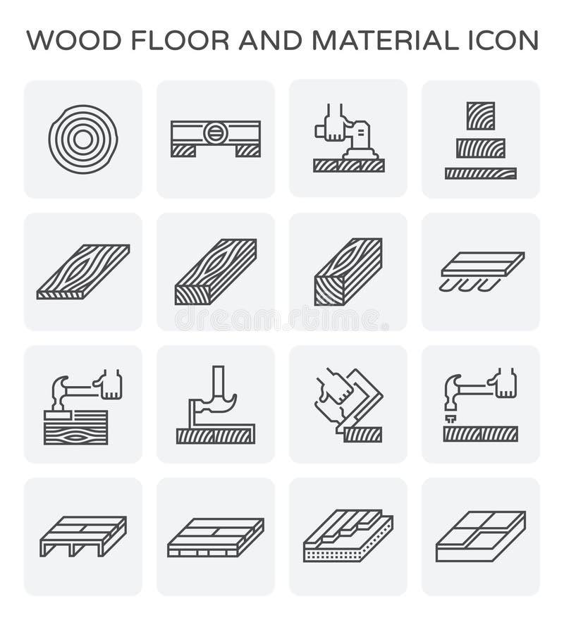 Icono de madera del piso ilustración del vector