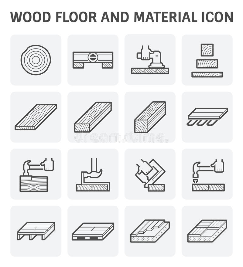 Icono de madera del piso libre illustration