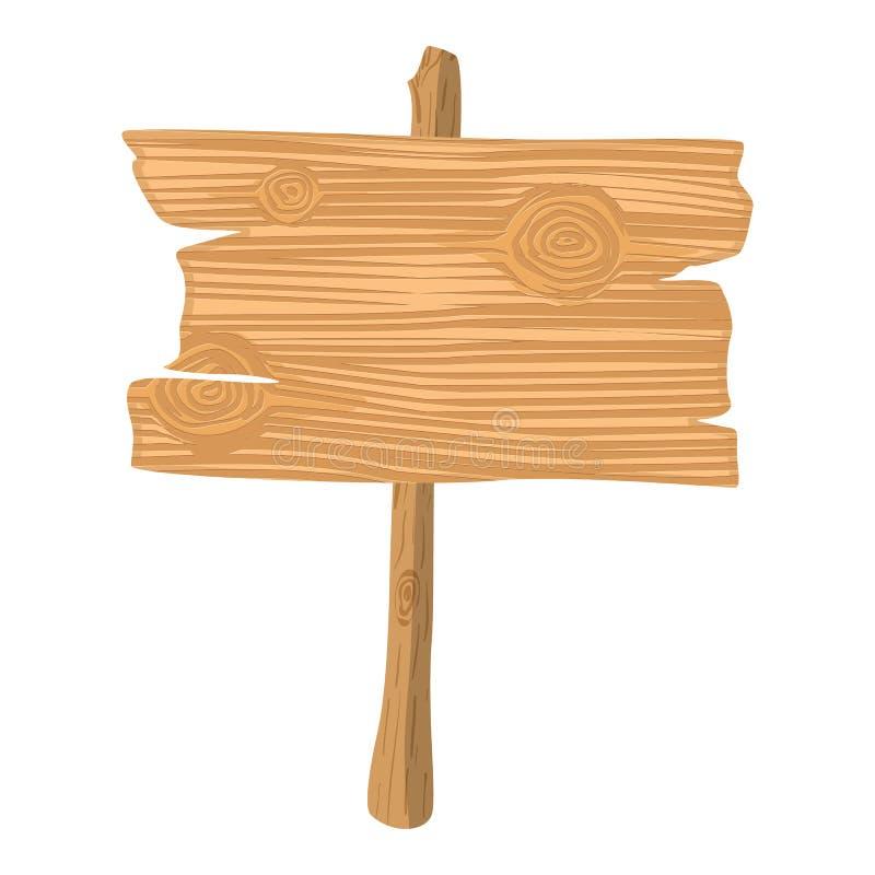 Icono de madera de la historieta ilustración del vector