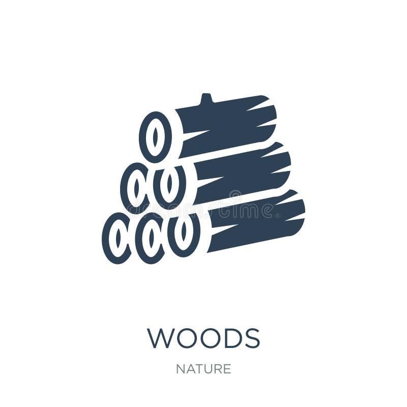 icono de maderas en estilo de moda del diseño icono de maderas aislado en el fondo blanco símbolo plano simple y moderno del icon stock de ilustración