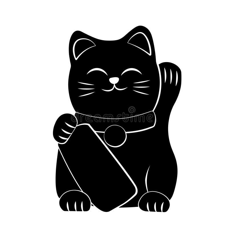 Icono de Maneki Neko ilustración del vector