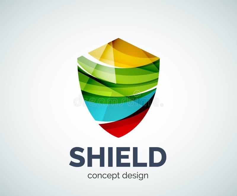 Icono de marcado en caliente del negocio del logotipo del escudo stock de ilustración