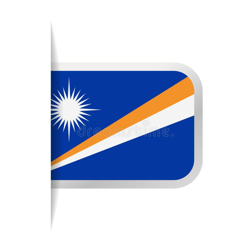 Icono de Marshall Islands Flag Vector Bookmark libre illustration
