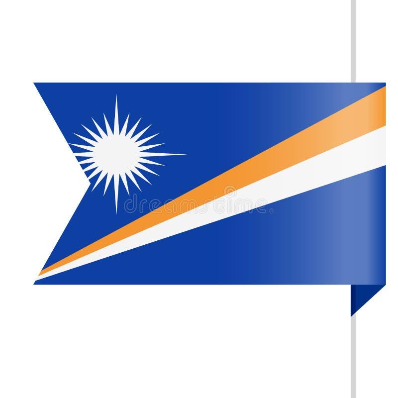 Icono de Marshall Islands Flag Vector Bookmark ilustración del vector