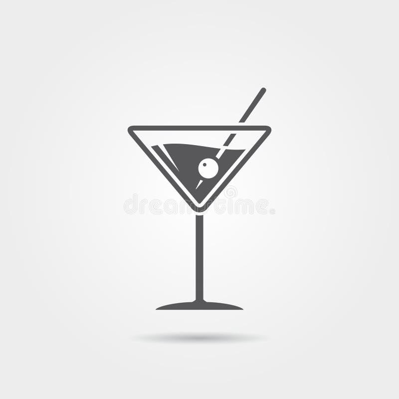 Icono de Martini ilustración del vector