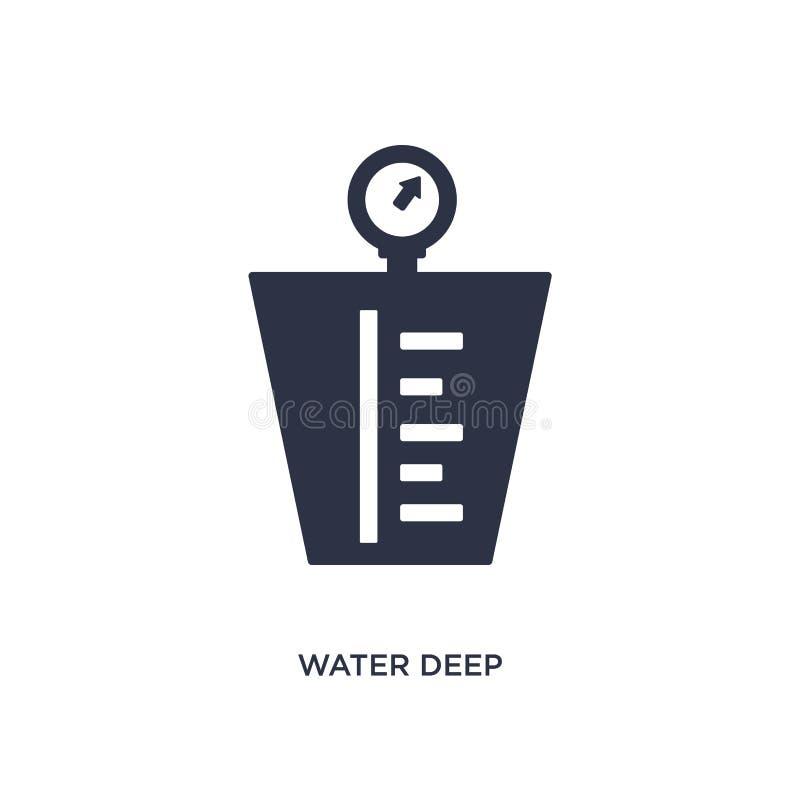 icono de medición profundo del agua en el fondo blanco Ejemplo simple del elemento del concepto de la medida libre illustration