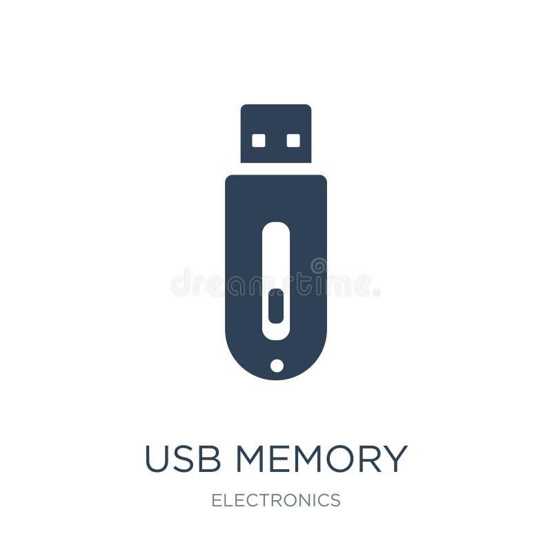 icono de memoria USB en estilo de moda del diseño icono de memoria USB aislado en el fondo blanco icono del vector de memoria USB ilustración del vector