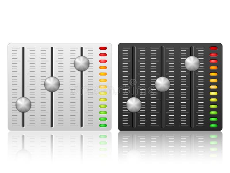 Icono de mezcla de la consola ilustración del vector