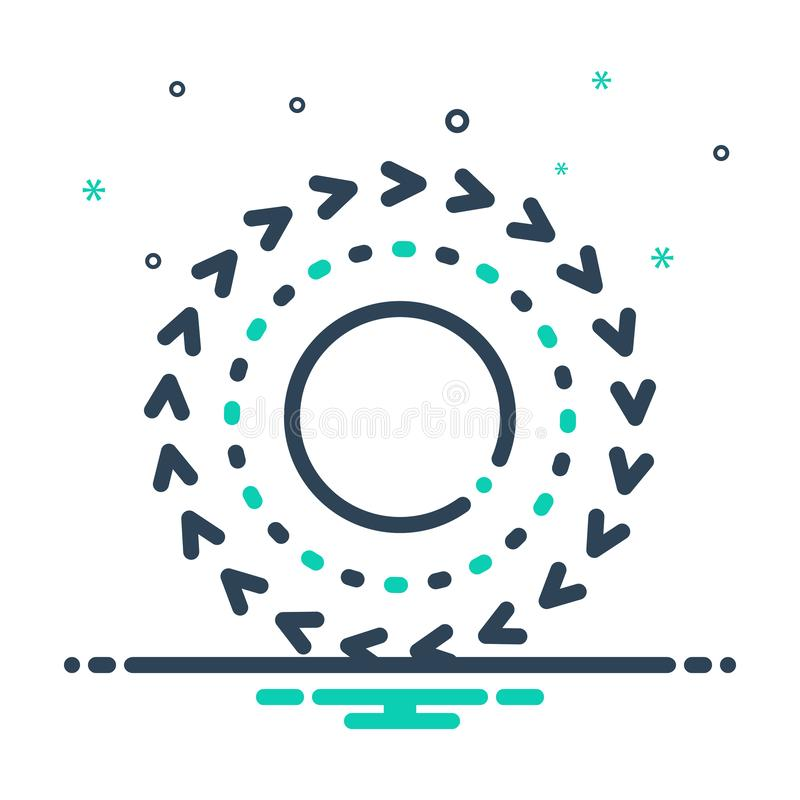 Icono de mezcla negra para Aye, para siempre y para siempre ilustración del vector