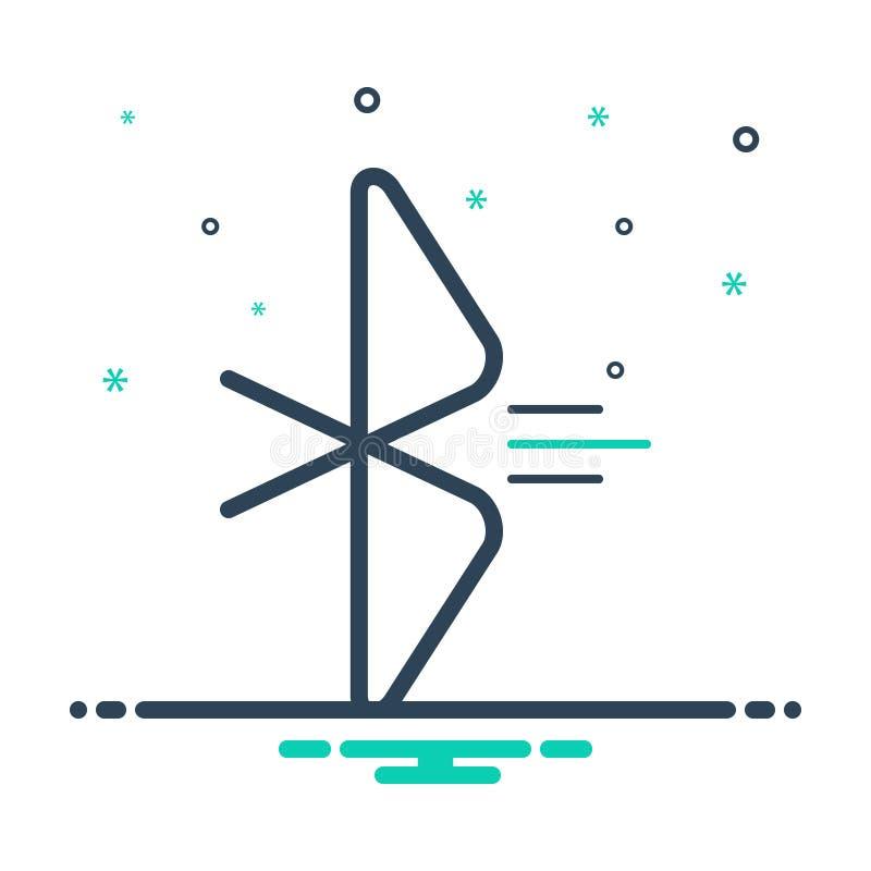 Icono de mezcla negra para conexión, conectividad y aplicación libre illustration
