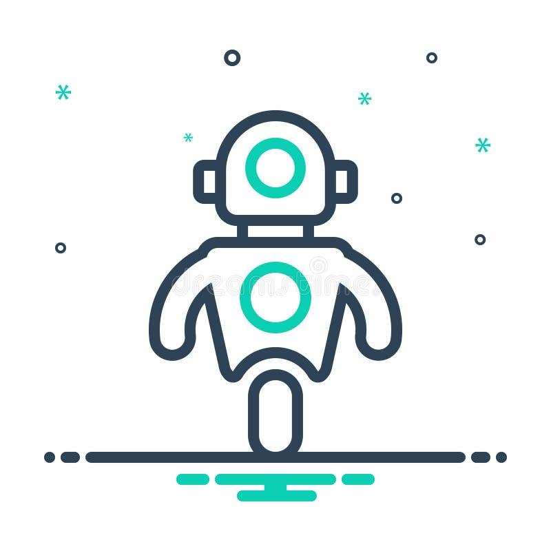 icono de mezcla para Personal Droid, Automatizado y Datos stock de ilustración