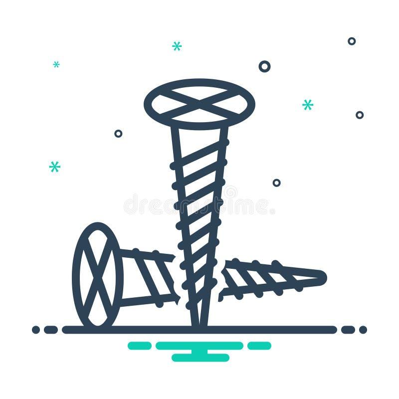 Icono de mezcla para tornillo, tornillo y ajustable stock de ilustración
