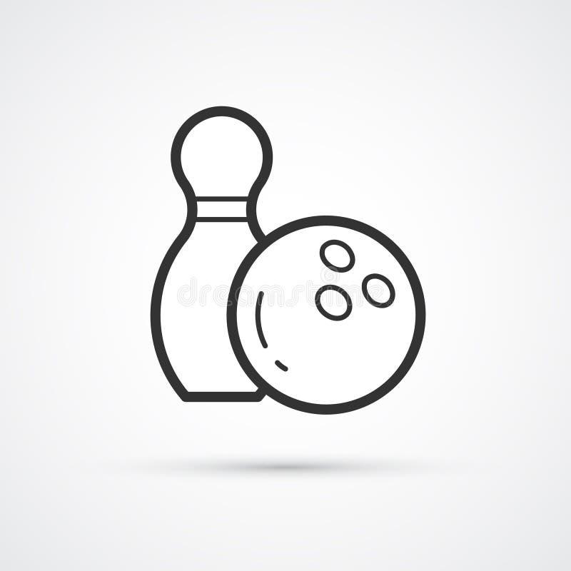 Icono de moda de la bola que rueda Ejemplo del icono del vector ilustración del vector