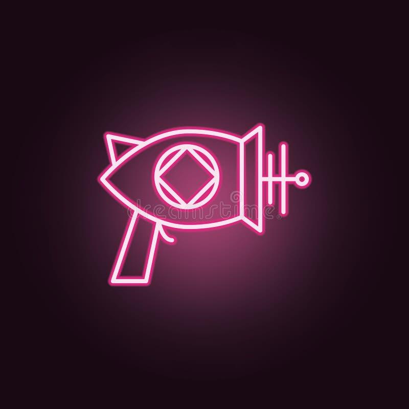 Icono de neón del arenador del espacio Elementos del sistema del espacio Icono simple para las p?ginas web, dise?o web, app m?vil libre illustration