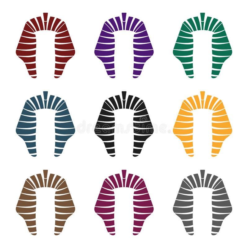 Icono de Nemes en estilo negro en el fondo blanco Ejemplo del vector de la acción del símbolo de los sombreros ilustración del vector