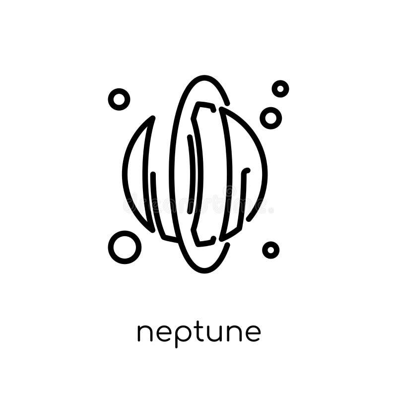 Icono de Neptuno de la colección de la astronomía libre illustration