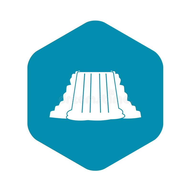 Icono de Niagara Falls, estilo simple ilustración del vector