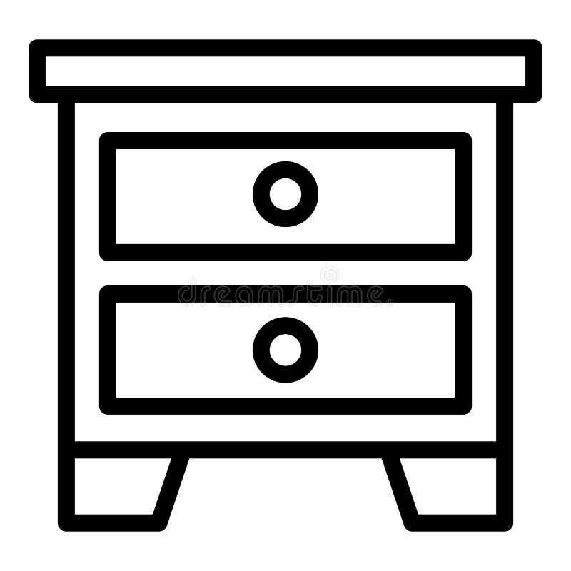 Icono de Nightstand, estilo del esquema libre illustration