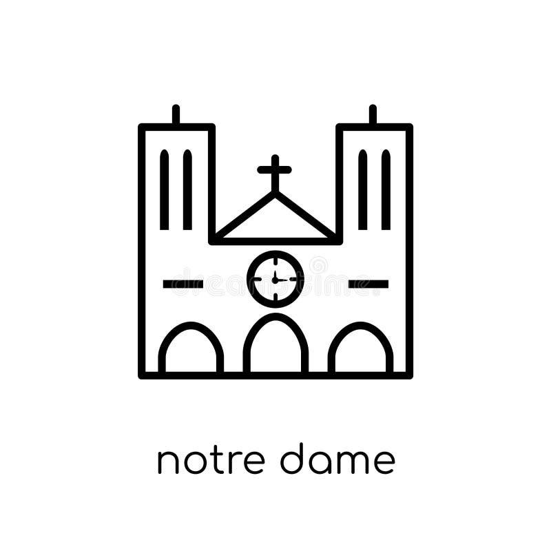 Icono de Notre Dame  ilustración del vector