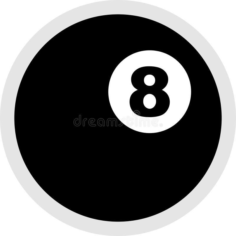 Icono de ocho bolas ilustración del vector