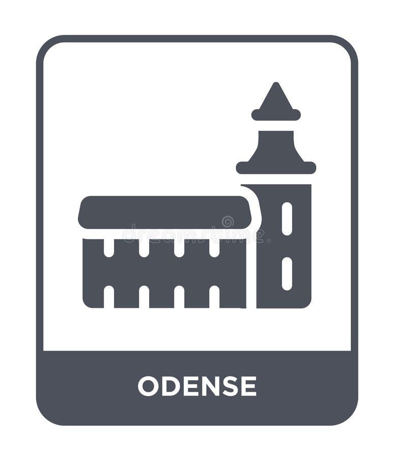 icono de Odense en estilo de moda del diseño icono de Odense aislado en el fondo blanco símbolo plano simple y moderno del icono  ilustración del vector