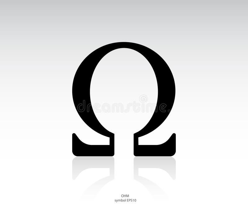 Icono de Omega stock de ilustración
