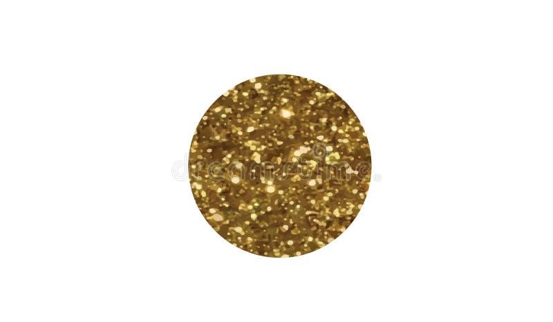 Icono de oro de la bandera de país de Japón del brillo del vector stock de ilustración