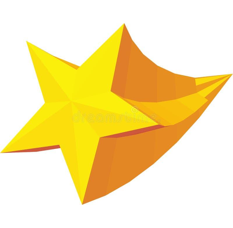 Icono de oro del premio de la estrella, estilo isométrico 3d ilustración del vector
