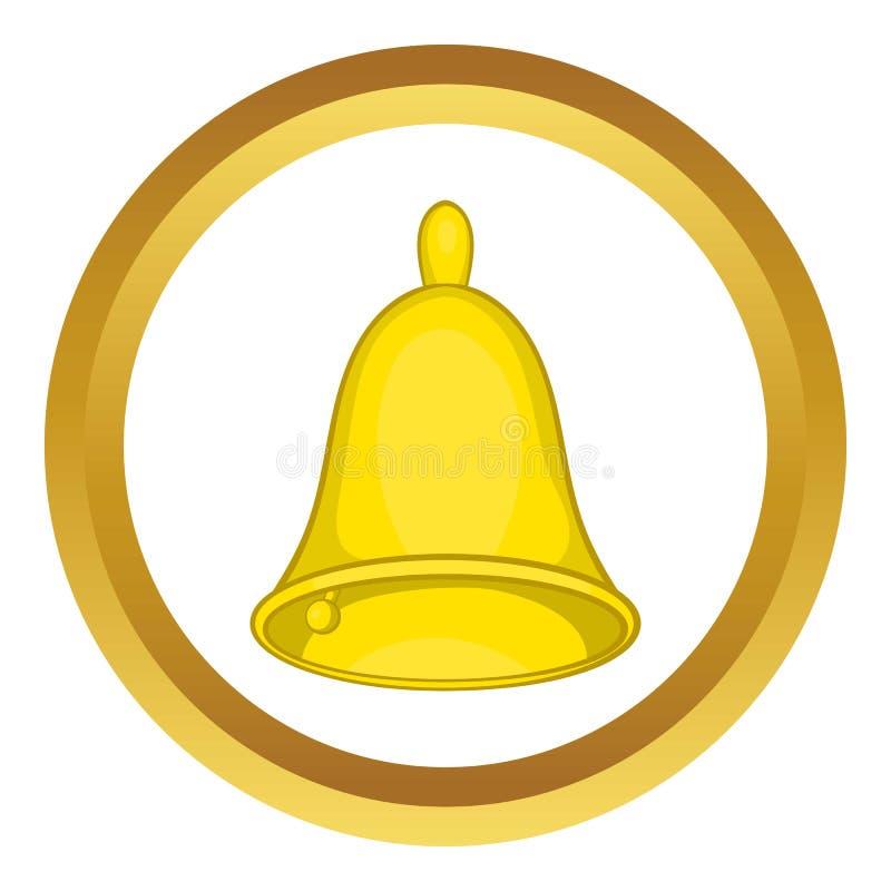 Icono de oro de la campana de mano libre illustration