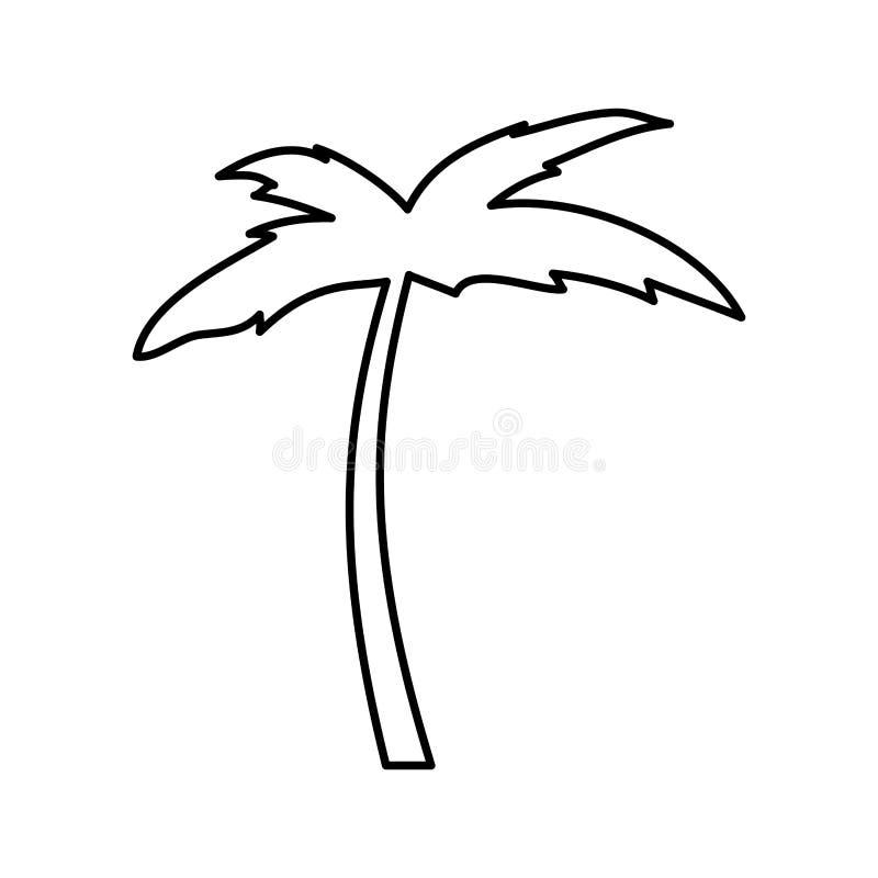 Icono de Palm Beach del árbol ilustración del vector