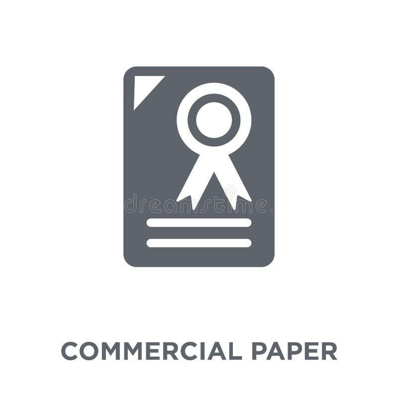 Icono de papel comercial de la colección de papel comercial libre illustration